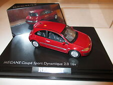 Renault Megane Coupe Sport Dynamique 2,0 16V in rot rouge red, Norev in 1:43!
