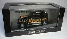AMERICAN HOT ROD BLACK WITH FLAMES 1:43 MINICHAMPS