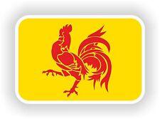Wallonian Walloon Flag Sticker bold rooster Bumper Belgium Moto Helmet Laptop