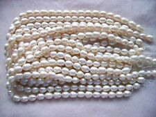 """15""""White Freshwater Pearl Spacer Natural Beads For DIY Necklace Bracelat Jewelry"""