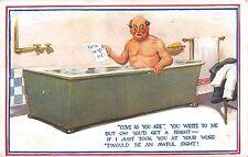 POSTCARD  COMIC   Bath  man  Come  as  you  are