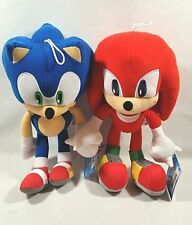 "Sega Sonic The Hedgehog Video Game Sonic & Knuckles Stuffed Plush Doll 12"" Set"