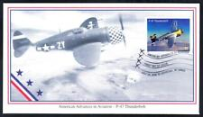 P-47 THUNDERBOLT FIGHTER AIRCRAFT Stamp Mystic First Day Cover FDC (1718)
