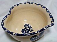 Master Potter E.J. Humphries Signed Handmade Texas Marshall Pottery Heart Bowl