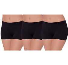 3 PK SPANDEX SHORTS YOGA GYM EXERCISE BIKE DANCE SEAMLESS SHORTS FOR WOMEN
