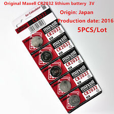 5pcs Original Maxell CR2032 3V Lithium Button Coin Cell Battery made in Japan