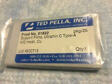 Ted Pella Inc. No. 01822 Copper Ultrathin C Type A 400 mesh Support Films 25/pk
