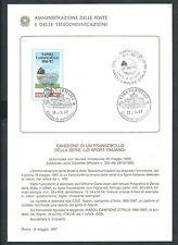 1987 ITALIA BOLLETTINO ILLUSTRATIVO N. 8 NAPOLI CAMPIONE ITALIA CALCIO