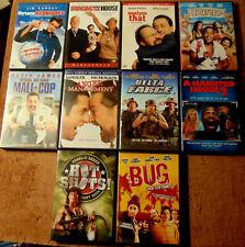 Lot of 10 COMEDY DVDs - Kevin James  Adam Sandler  Jim Carrey  Marlon Wayans +