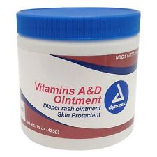 Dynarex Vitamins A&D Tattoo Ointment 15oz Jar Skin Protectant Aftercare Supply