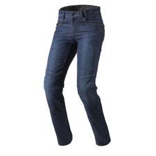 Pantalones de cordura color principal azul de rodilla para motoristas