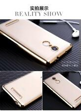 "Shockproof For ""Xiaomi Redmi Mi Note 3"" Gold Plated TPU Silicone Back Case Cover"