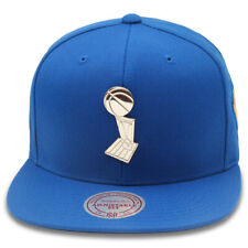 Mitchell & Ness Golden State Warriors Snapback Hat Cap Royal/Metal Trophy/Finals