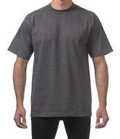 Pro Club Men's Heavyweight Cotton Short Sleeve Crew Neck T-Shirt - Charcoal Gray