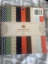 6x6 Scrapbook Cardstock Paper Pad 9 designs 18 count of paper 2 OF EACH DESIGN