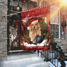 Golden Retriever Christmas Flag House Flag, Wall Flag, Garden Flag