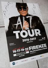 RENATO ZERO 30 x 43 ALT tour poster RARO! manifesto locandina Firenze .