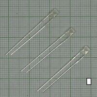 10 X Led weiss Farben + Widerstand -(Flach rechteckig, 2x3x4mm) - E160