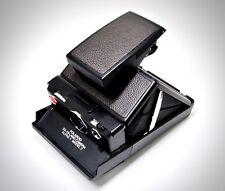 Polaroid SX-70 Dark Brown Pebbled Grain Full Grain Leather PolaSkinz SLR680