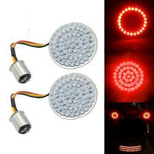 2Pcs1157 Bullet Red LED Turn Signals Light Bulb Inserts for Harley Davidson