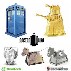 Metal Earth Doctor Who DIY 3D Metal Model Kit Tardis Darlek Cyberman K-9 New UK