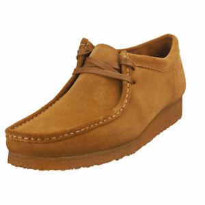 Clarks Originals Wallabee Mens Cola Suede Suede Wallabee Shoes