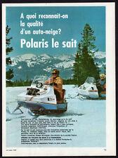 1970 POLARIS TX 800 Snowmobile Vintage Original Print AD - white photo, mountain