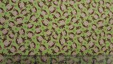 Sweet Baby Girl Baby Monkies Toss Green 100% cotton Fabric by the yard