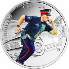 2016 $15 .9999 % PURE SILVER COIN NATIONAL HEROES POLICE COLORIZED
