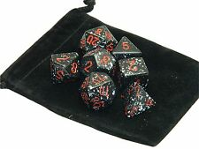 New Chessex Polyhedral Dice with Bag Space Speckled 7 Piece Set DnD RPG