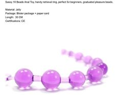 SASY 10 BEADS ANAL TOY Handy Ring PLEASURE BEADS Sex Toy Gelly 30cm