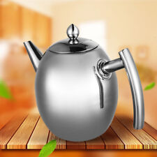 Stainless Steel Whistling Kettle kitchen/Home Camping Gas Hob Silver (1L)