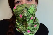 New Woman Scarf Face Mask Neck Gaiter Skulls and flowers camo