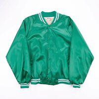 Vintage BUCK O'MARBREY'S Irish Pub Green Nylon Bomber Jacket Size Men's XL