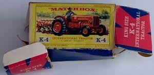 MATCHBOX King Size K-4 Mccormick International B-250 Red tractor