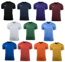Mens Kids Nike Football Rugby Sports Match Training T Shirt Top Jersey Park VI Large 41/43 Black