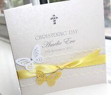 Personalised Handmade Christening Baptism Card  - Charlotte Elisabeth C016