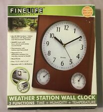 Fine Life Products Weather Station Wall Clock