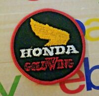 Vintage Round Honda Gold Wing Motorcycle Hat Jacket Patch