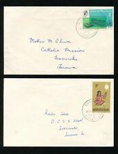 GILBERT + ELLICE INTER ISLAND 2 COVERS MARAKEI + ABAIANG WHO 1966-68