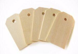 50pk Unfinished Wood Tags Blank Hang Labels Wine Bottle Labels Craft Supplies