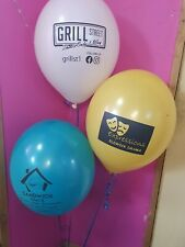 200 Personalized Custom Printed Balloons Pastel & Clear Colours Helium Quality