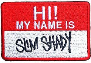 Eminem Hi! My Name is Slim Shady Patch Marshall Mathers Hip-Hop Memorabilia Logo