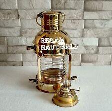Brass Oil Lamps Cargo Ship Railroad Oil Kerosene Burner Lantern Lamp