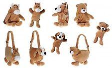 Kinder Plüsch Handpuppe Kuscheltier Stofftier Rucksack Geschenk Pferd Hund Bär
