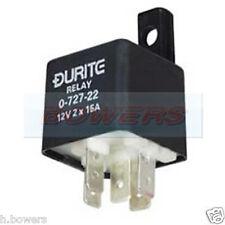 Durite 0-727-22 5 Pin Mini Doble hacer romper Relé 12V 2x 25A Amp Con Soporte