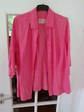 48 50 Bluse Triangle S. Oliver 3/4 Arm  hummer rosa  gestreift Baumwolle Leinen