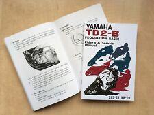 YAMAHA TD2-B OWNERS BOOK REPRODUCTION 1970 TZ RACING CLASSIC YAMAHA