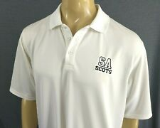 Under Armour Golf Polo Shirt Ss Mens L All White Saint Andrews Sa Scots Boca, Fl