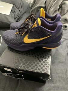 2011 NIKE KOBE BRYANT VI 6 Imperial Purple Del Sol NDS #429659-501 Size 13